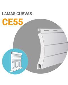 Lamas CE55 aluminio (cortina)