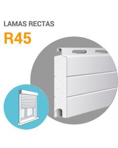 Lamas R45 aluminio (cortina)